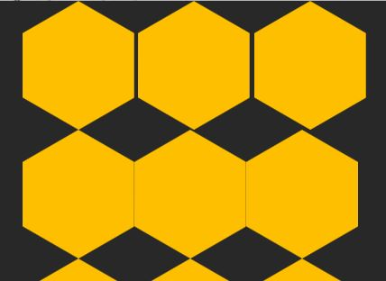 Image example of the margin on second hexagon