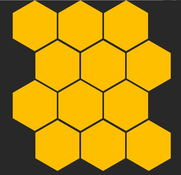 Image example of the final grid of hexagons