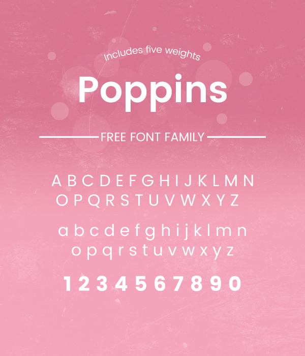 Free Download: Poppins Font Family || Codesmite
