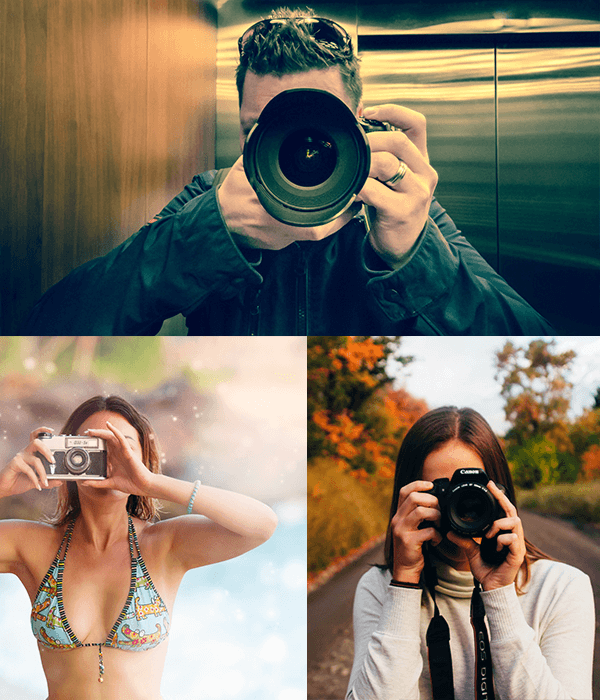 Preview of People Using Cameras Stock Photo Pack