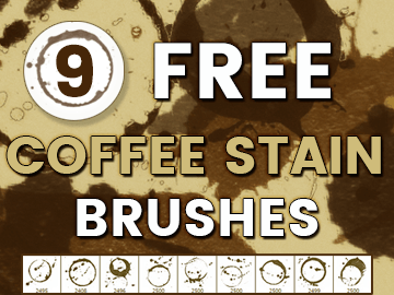 9 Free Photoshop Coffee Stain Brushes